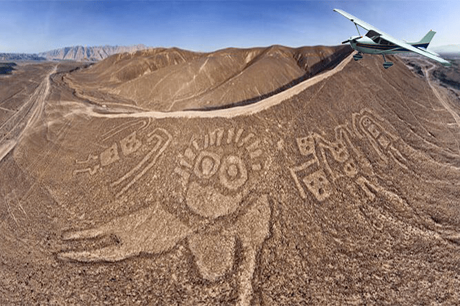 Survolez les lignes Nazca + Palpa depuis l'aéroport de Pisco