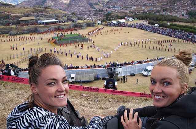 Inti Raymi from mountain
